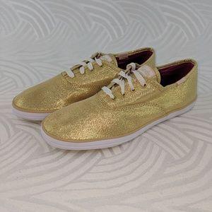 Keds Low Shoes Metallic Gold Womens 5M